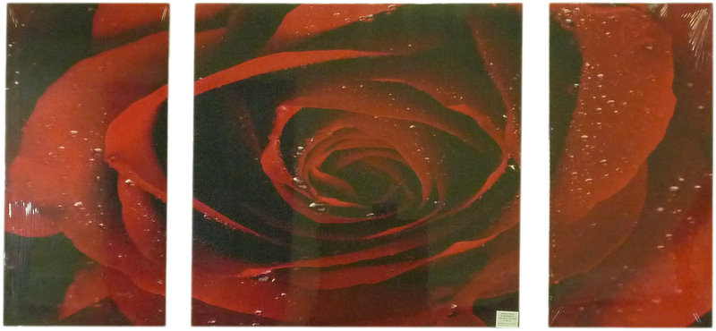 Mega Rose - Left 60 x 30cm Middle 60 x 60cm Right 60 x 30cm