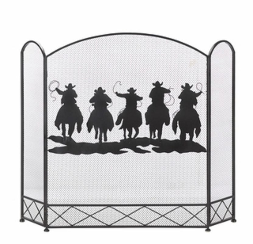Cowboy Round Up Fireplace Screen House Artware