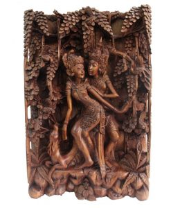 Bali Artisan Panels - Lovers & Deer