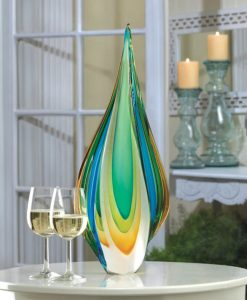 Flame Art Glass Statue