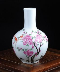 White Floral Vase - Style B