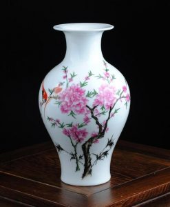 White Floral Vase - Style C