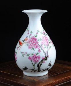 White Floral Vase - Style F
