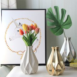 Diamond Shape Porcelain Vase