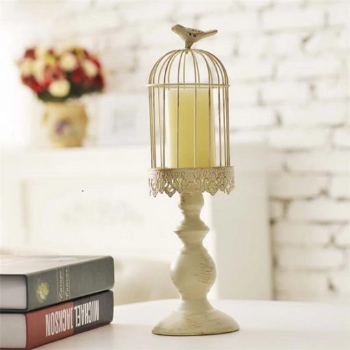 Bird Cage Candle Holder - M