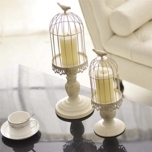 Bird Cage Candle Holder - S