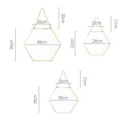 Hexagonal Decorative Mirror